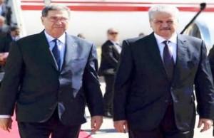 رئيس الحكومة التونسية ونظيره الجزائري عبد الملك سلال