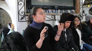 أماني المثلوثي، طالبة بالمعهد العالي للغات التطبيقية والإعلامية