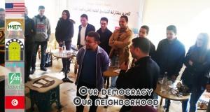 """مشروع  """"ديمقراطيتنا حينا """" – مؤسسة الياسمين تطلق مجموعة من المقاهي الشبابية"""