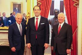 رئيس الحكومة يوسف الشاهد مع السيدين Bob Corker و Ben Cardin العضوان بلجنة العلاقات الخارجية بمجلس الشيوخ الأمريكي