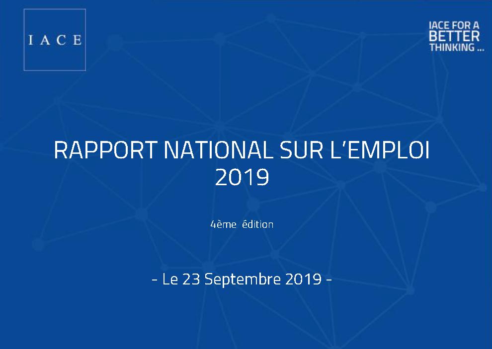 التقرير الوطني حول التشغيل 2019