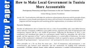 Policy Paper: How to Make Local Government in Tunisia More Accountable