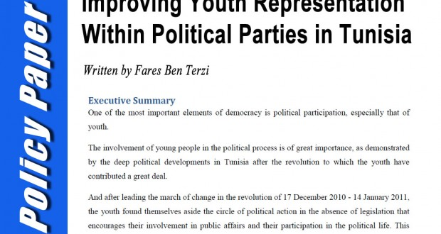 Policy Paper: Improving Youth Representation Within Political Parties in Tunisia