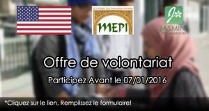 Offre de volontariat (Enquêteur) REF. MEPI 2016