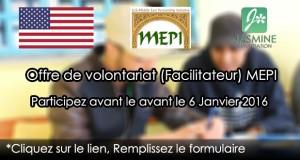 Offre de volontariat (Facilitateur) REF. MEPI 2016