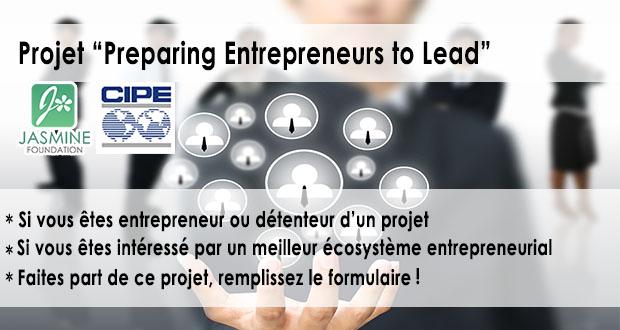 """Appel à Candidature pour le Projet """"Preparing Entrepreneurs to Lead"""" Réf Cipe 2016"""