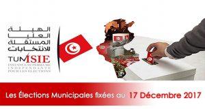 Municipales 2017 fixées au 17 décembre prochain