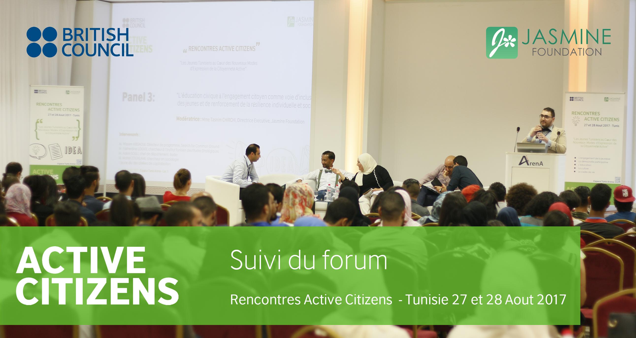 Rencontres Active Citizens: la parole aux jeunes, le message à tous
