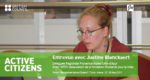 Entrevue avec Justine Blanckaert | Déléguée Régionale Provence-Alpes-Côte-d'Azur chez l'AFEV (Association de la Fondation Étudiante pour la Ville)